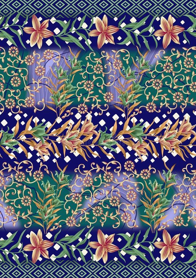 抽象五颜六色的印版印刷品样式 皇族释放例证