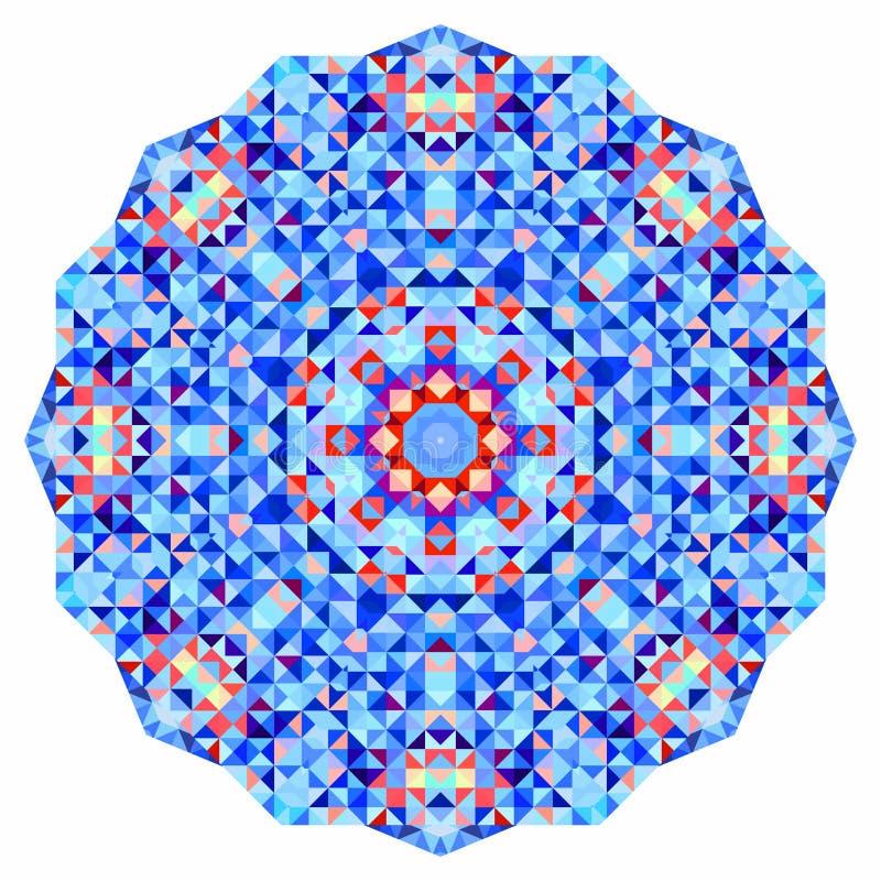 抽象五颜六色的圈子背景 几何传染媒介坛场 几何形状马赛克横幅  向量例证