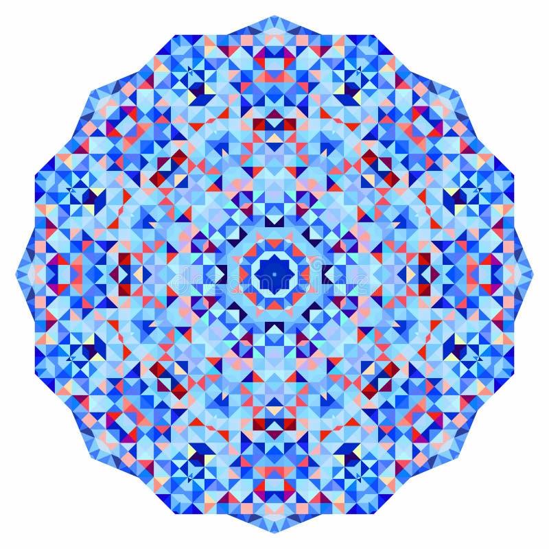 抽象五颜六色的圈子背景 几何传染媒介坛场 几何形状马赛克横幅  库存例证