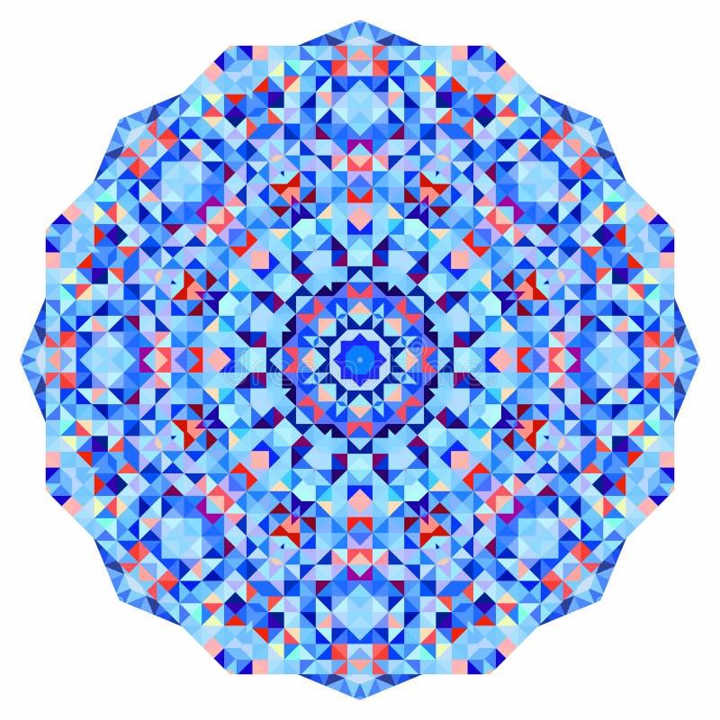 抽象五颜六色的圈子背景 几何形状马赛克圆的横幅  皇族释放例证