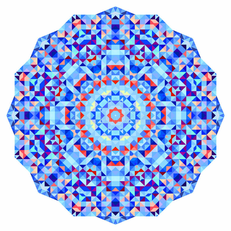 抽象五颜六色的圈子背景 马赛克 向量例证