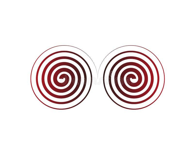 抽象五颜六色的圈子 r 皇族释放例证