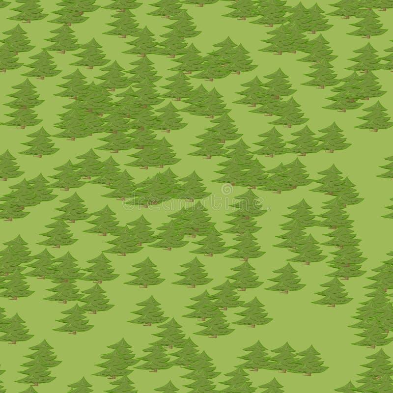 抽象五颜六色的在动画片样式的树森林无缝的样式背景 免版税图库摄影