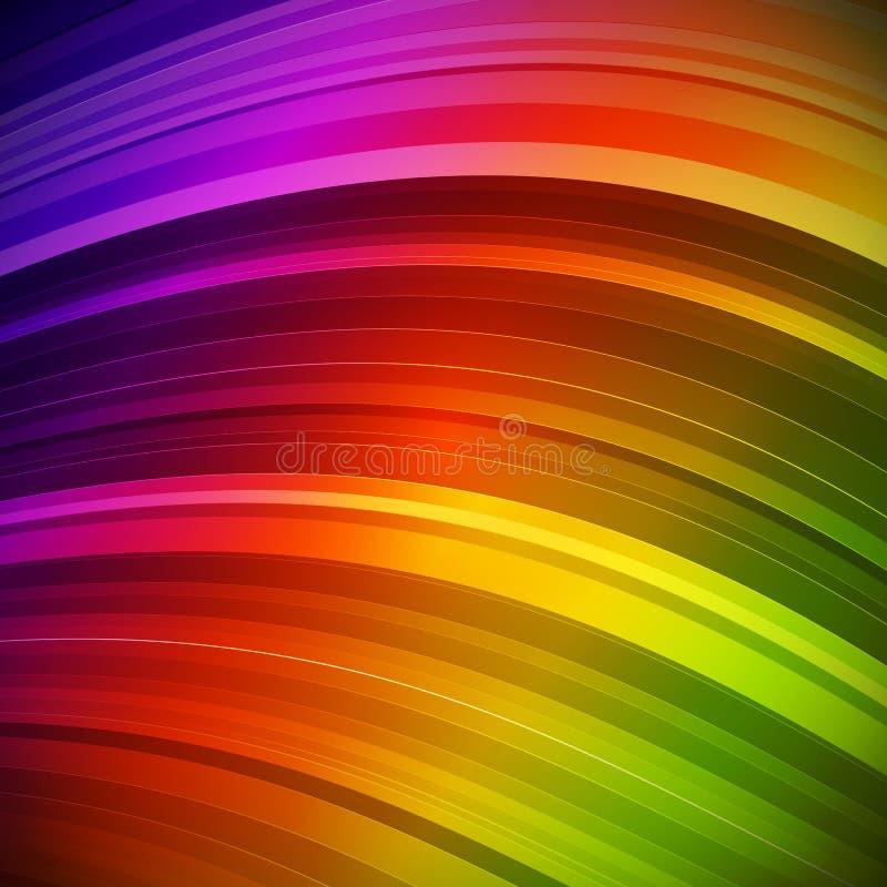 抽象五颜六色的射线背景 皇族释放例证