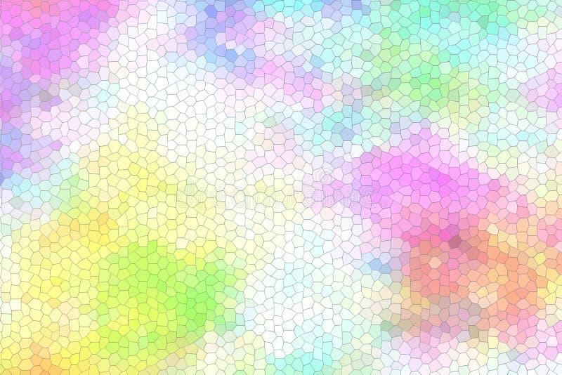 抽象五颜六色的彩色玻璃 库存图片