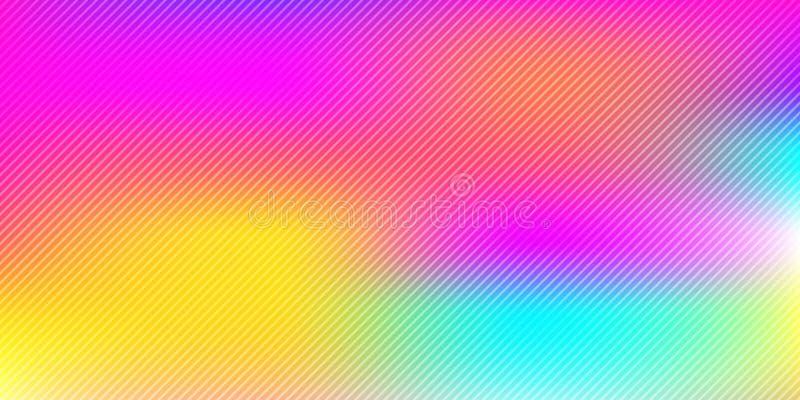 抽象五颜六色的彩虹与对角线样式纹理的被弄脏的背景 皇族释放例证