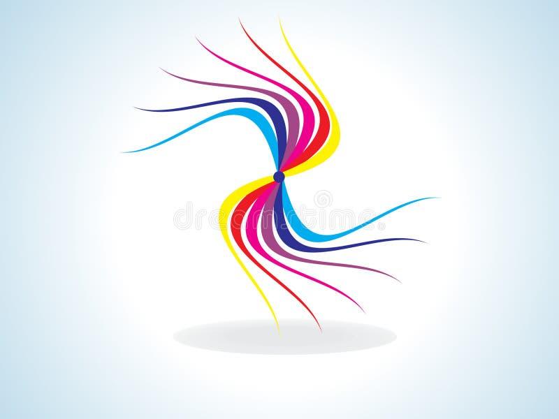 抽象五颜六色的彩虹形状 库存例证