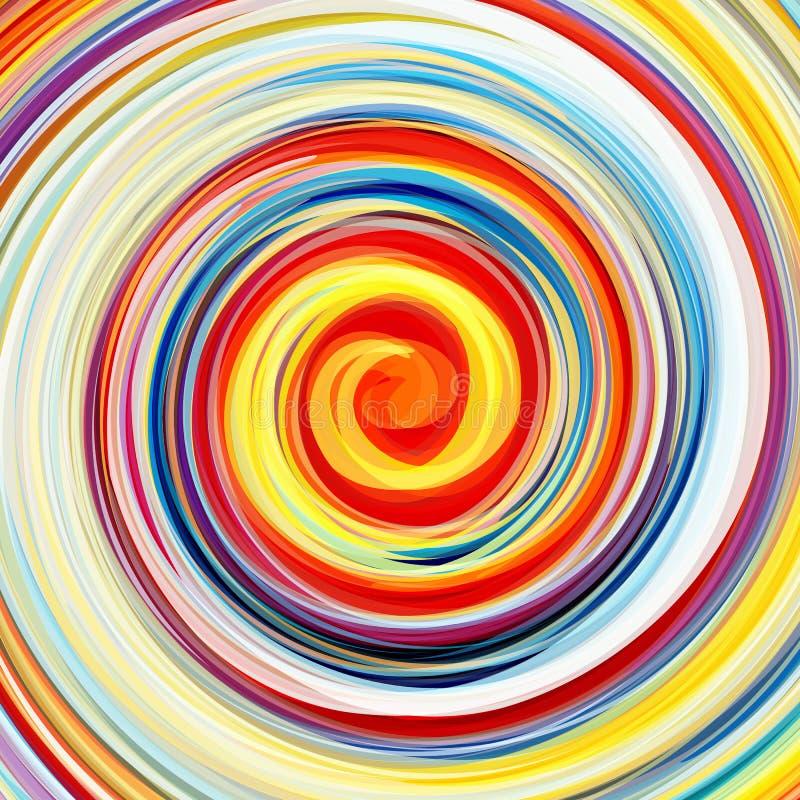 抽象五颜六色的打旋的背景 库存例证