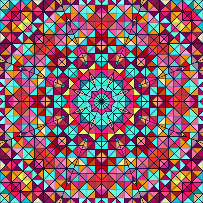 抽象五颜六色的数字式装饰星 向量例证