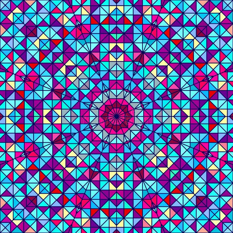 抽象五颜六色的数字式装饰背景 向量例证
