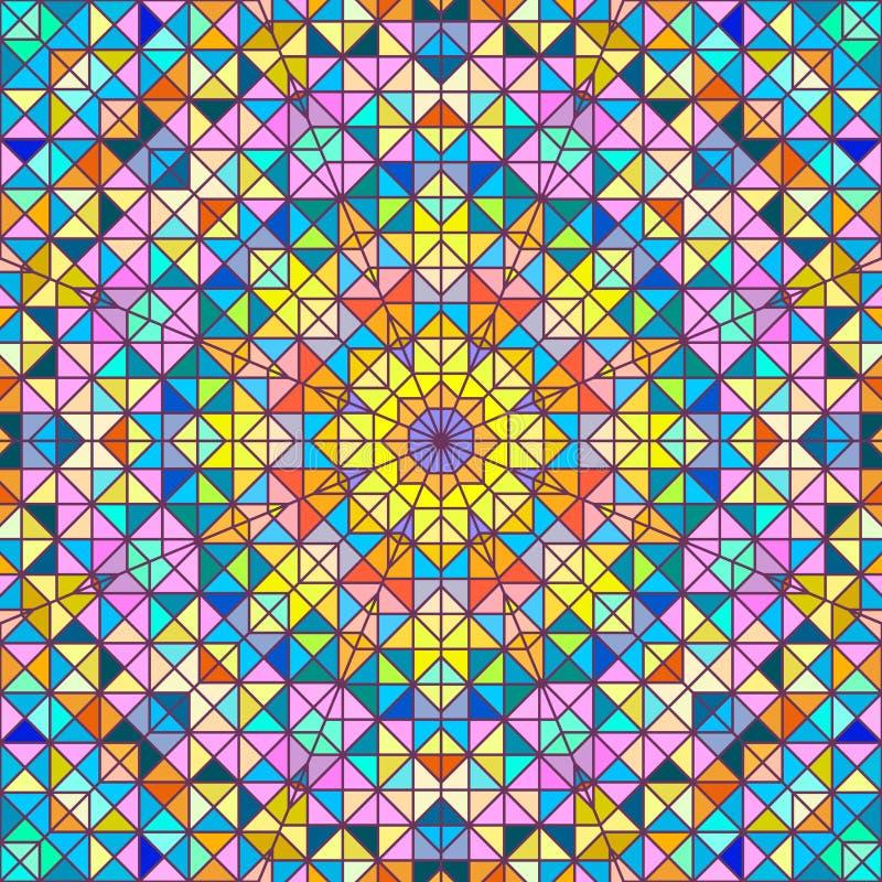 抽象五颜六色的数字式装饰花 库存例证