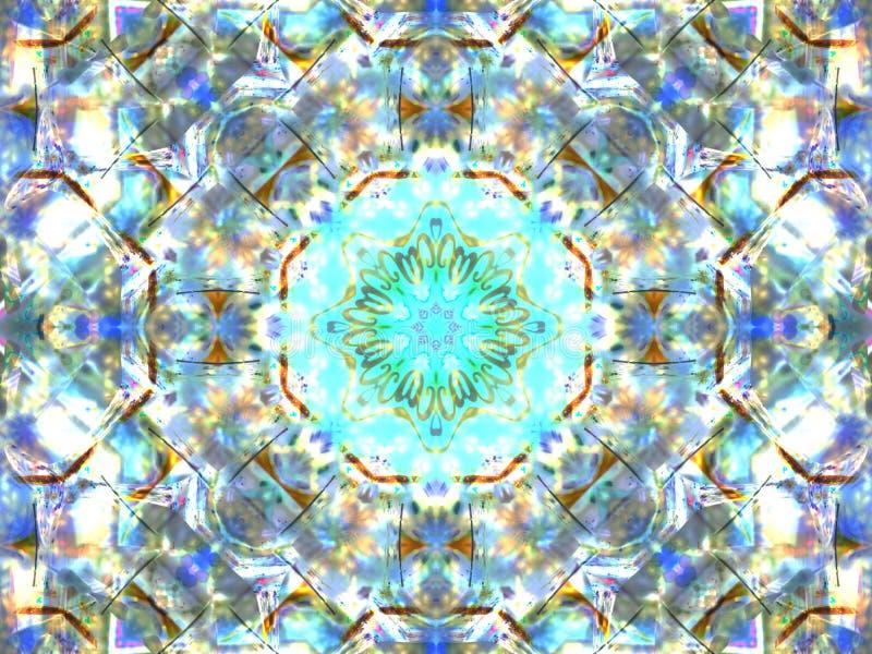 抽象五颜六色的无缝的样式万花筒 库存图片