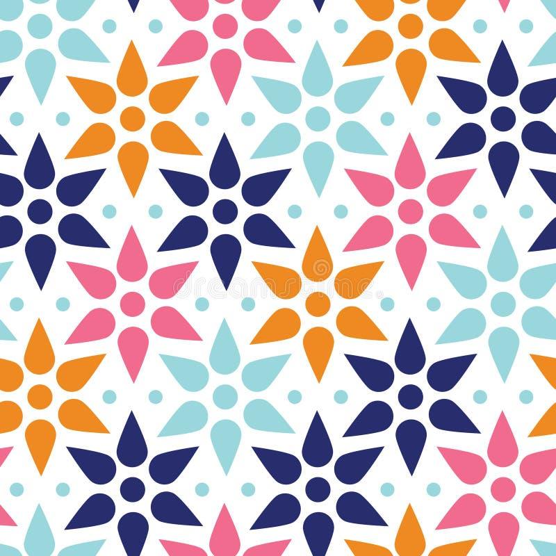 抽象五颜六色的星无缝的样式 皇族释放例证