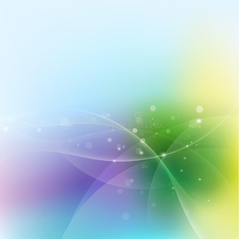 抽象五颜六色的曲线混和的流程背景、传染媒介&例证 向量例证
