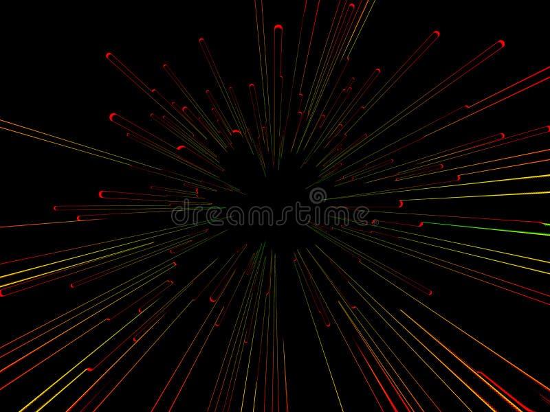 抽象五颜六色的条纹爆炸 皇族释放例证