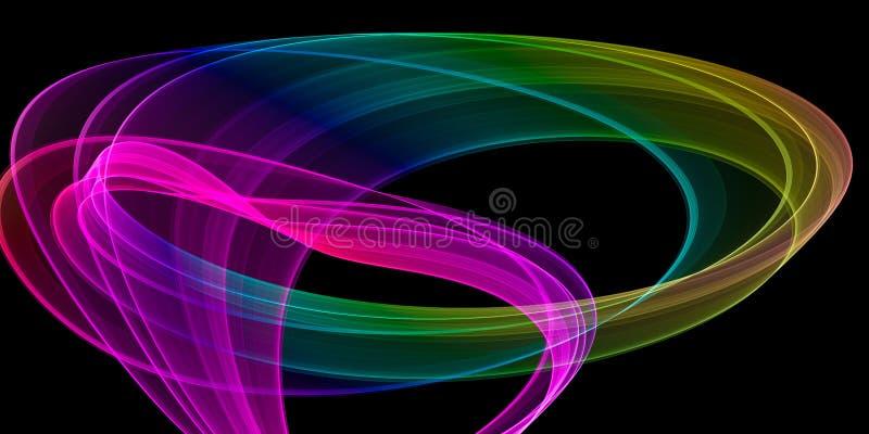 抽象五颜六色的条纹 库存例证