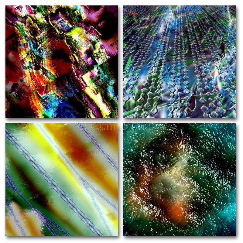 抽象五颜六色的构成 向量例证