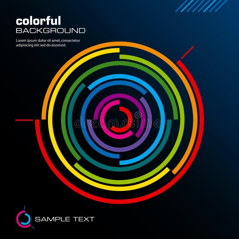 抽象五颜六色的格式向量 皇族释放例证