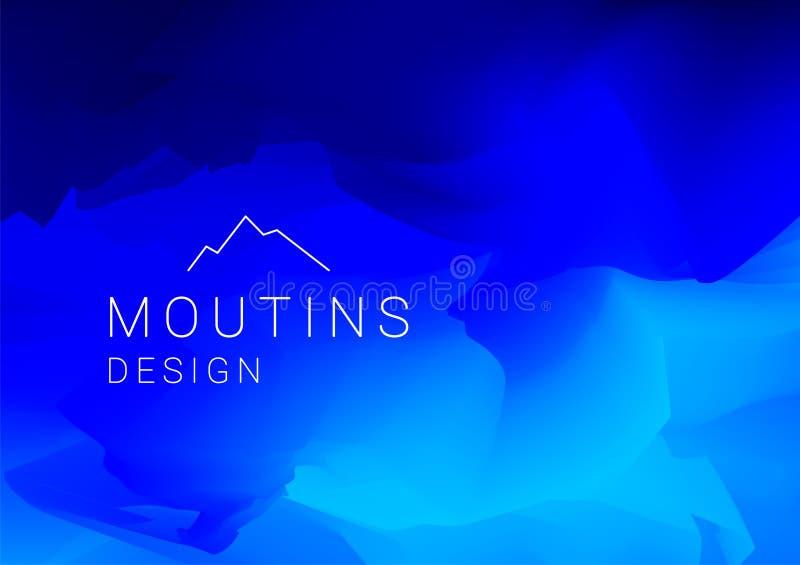 抽象五颜六色的梯度滤网背景 Moutins墙纸 皇族释放例证
