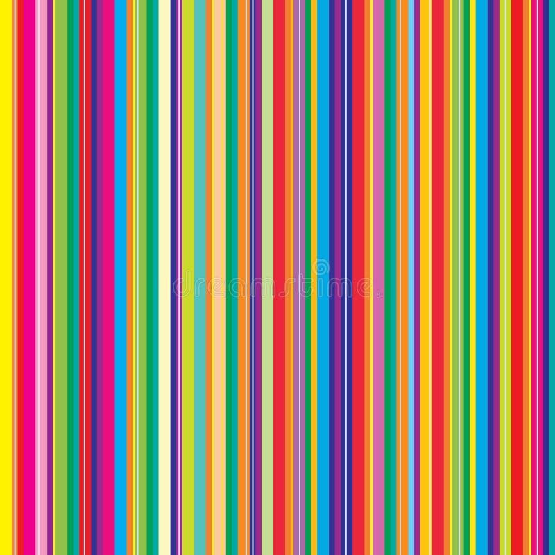 抽象五颜六色的模式数据条 库存例证