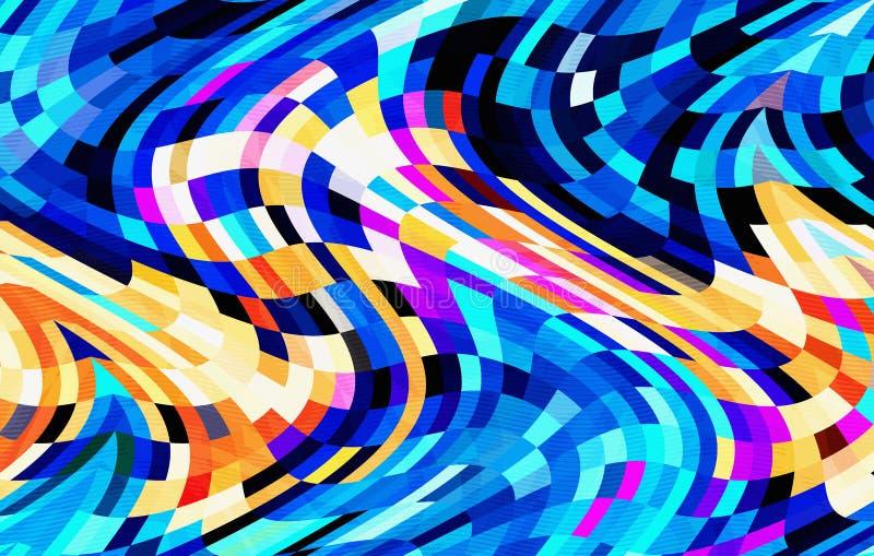 抽象五颜六色的波动图式设计 向量例证