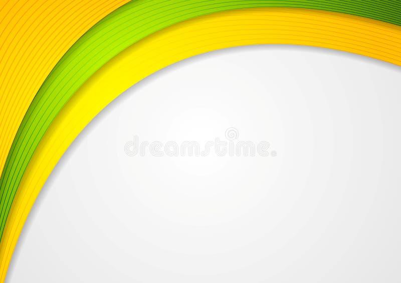 抽象五颜六色的波浪典雅的背景 向量例证