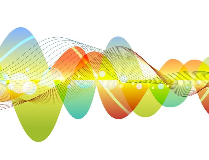 抽象五颜六色的波浪设计 皇族释放例证