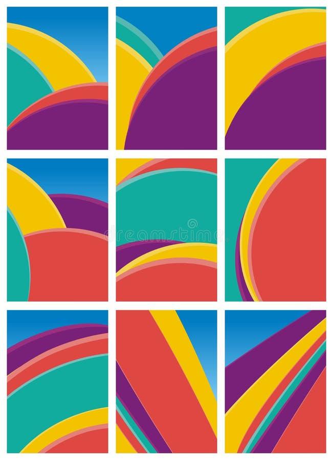 抽象五颜六色的波浪-线背景 皇族释放例证