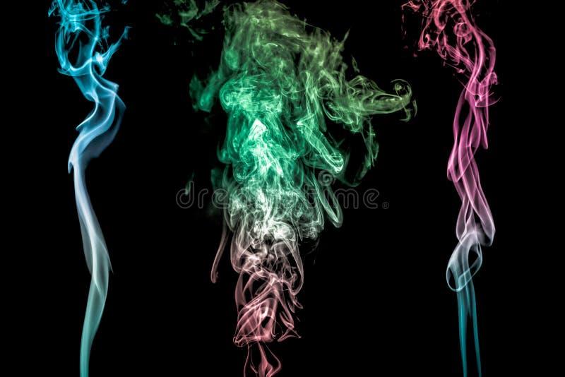 抽象五颜六色的烟 库存图片
