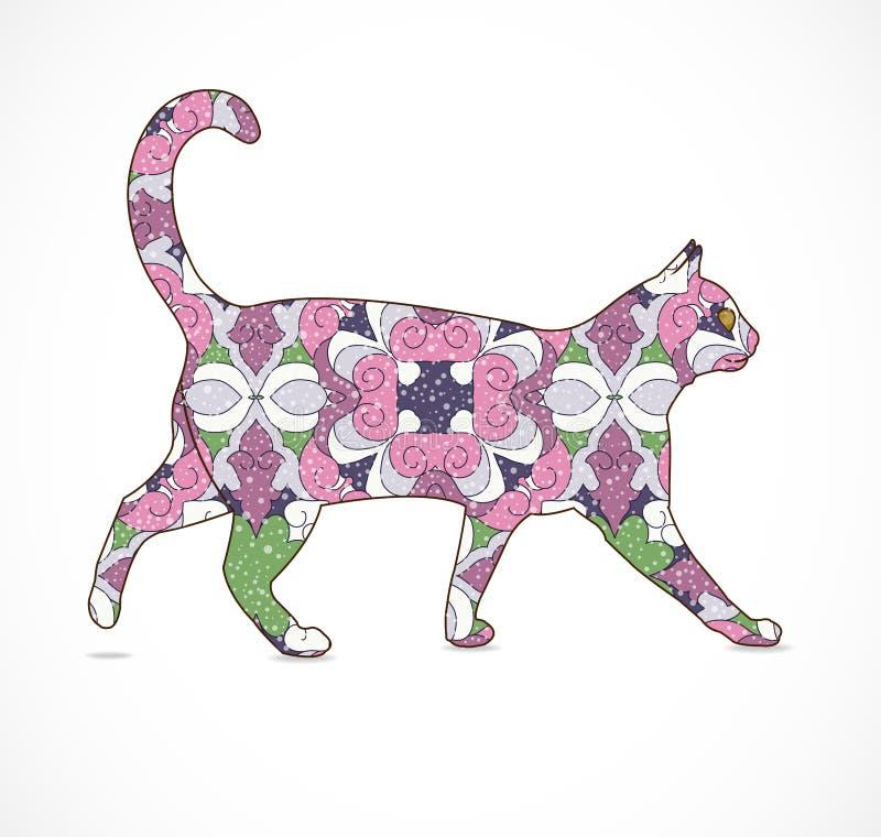 抽象五颜六色的猫 库存图片