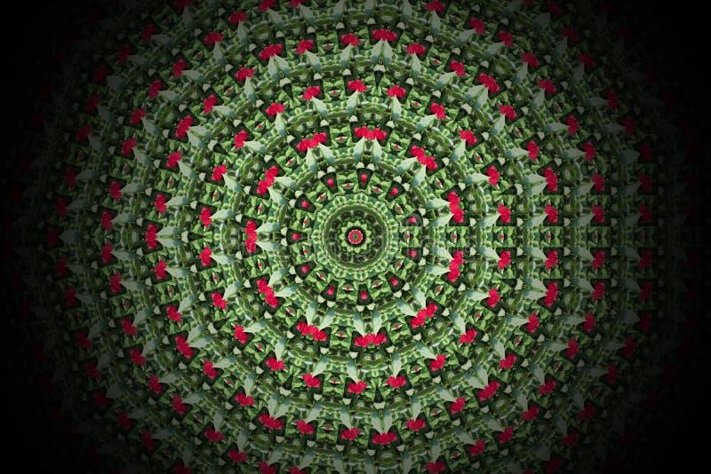 抽象五颜六色的现代圈子坛场和万花筒样式 皇族释放例证