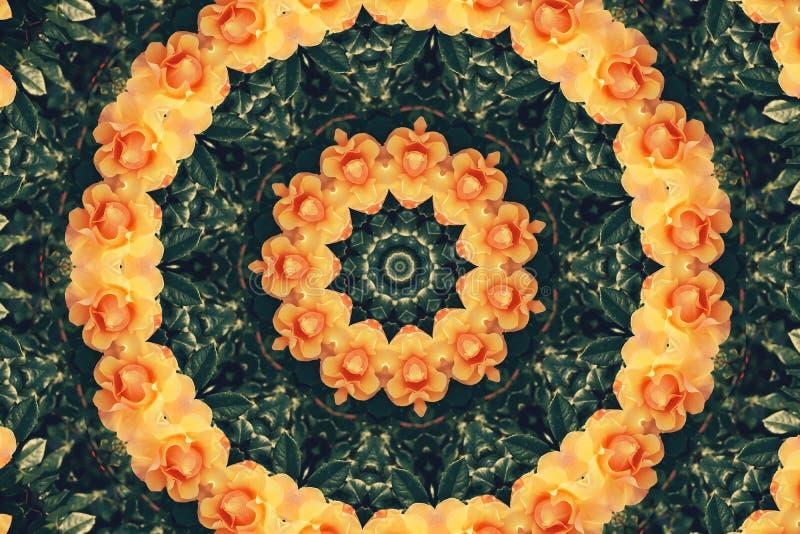 抽象五颜六色的现代圈子坛场和万花筒样式 向量例证