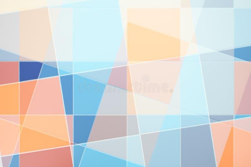 抽象五颜六色的瓦片 图库摄影
