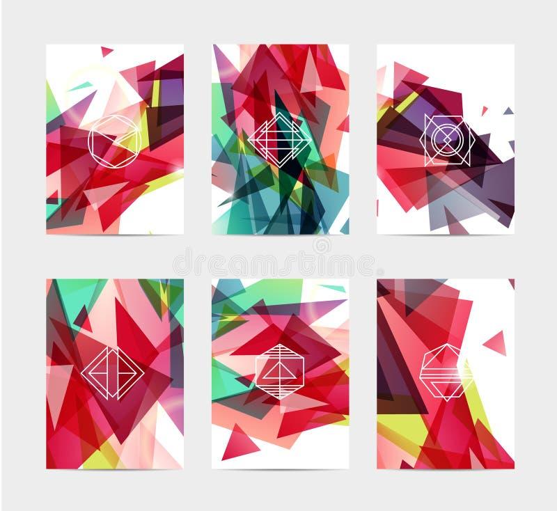 抽象五颜六色的用户界面模板集合 皇族释放例证