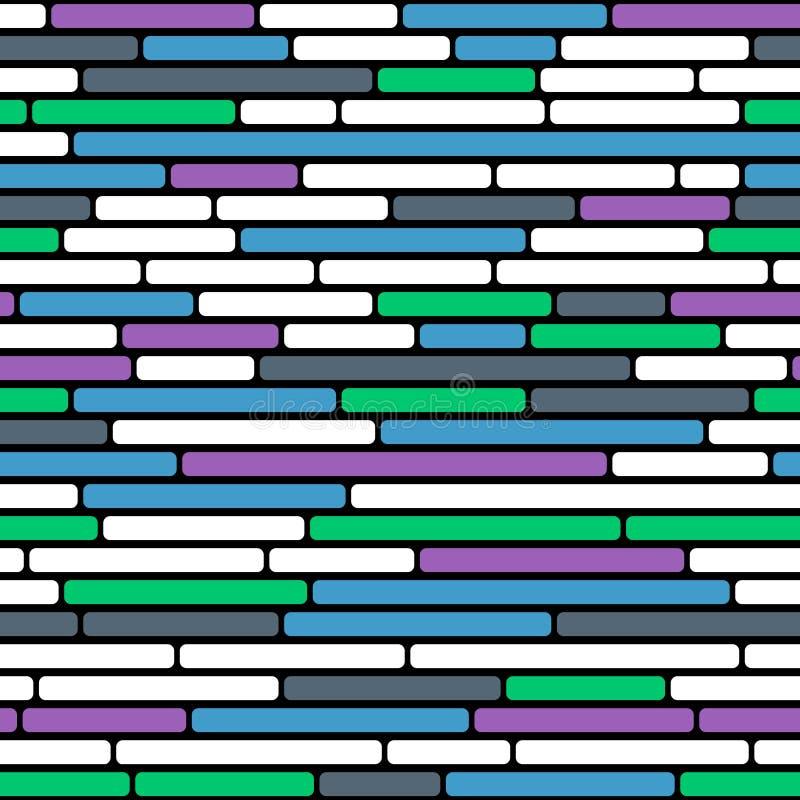 抽象五颜六色的砖墙无缝的传染媒介背景  库存例证