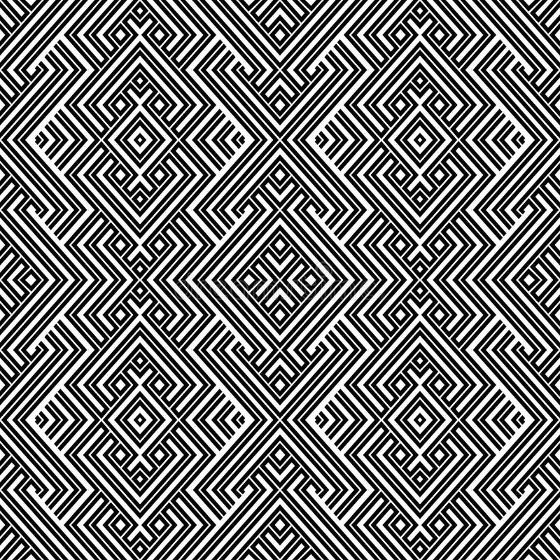 抽象五颜六色的种族几何例证模式无缝的向量 向量例证