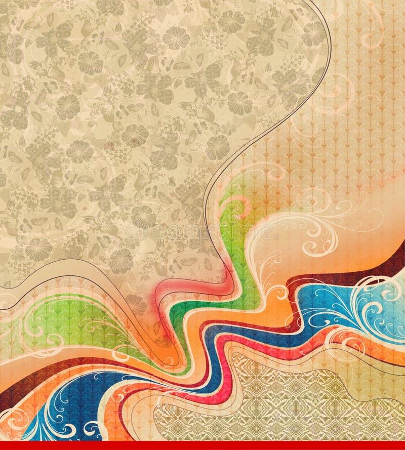 抽象五颜六色的纹理背景 皇族释放例证