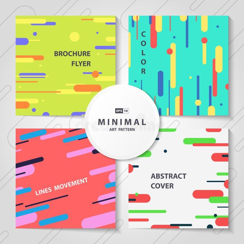 抽象五颜六色的线样式盖子捆绑小册子套  r 库存例证