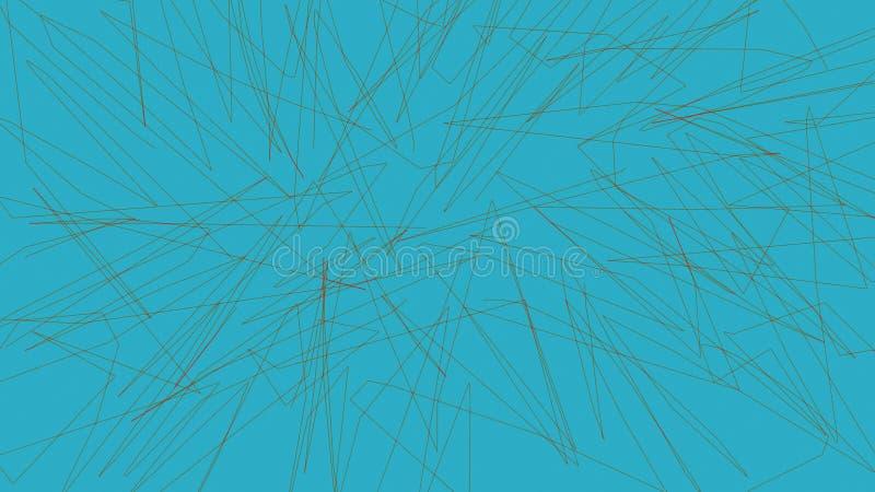 抽象五颜六色的线背景 纹理排行墙纸背景 皇族释放例证