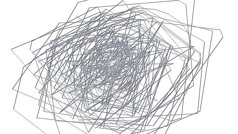 抽象五颜六色的线背景 纹理排行墙纸背景 向量例证