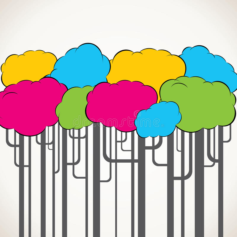 抽象五颜六色的结构树背景 库存例证