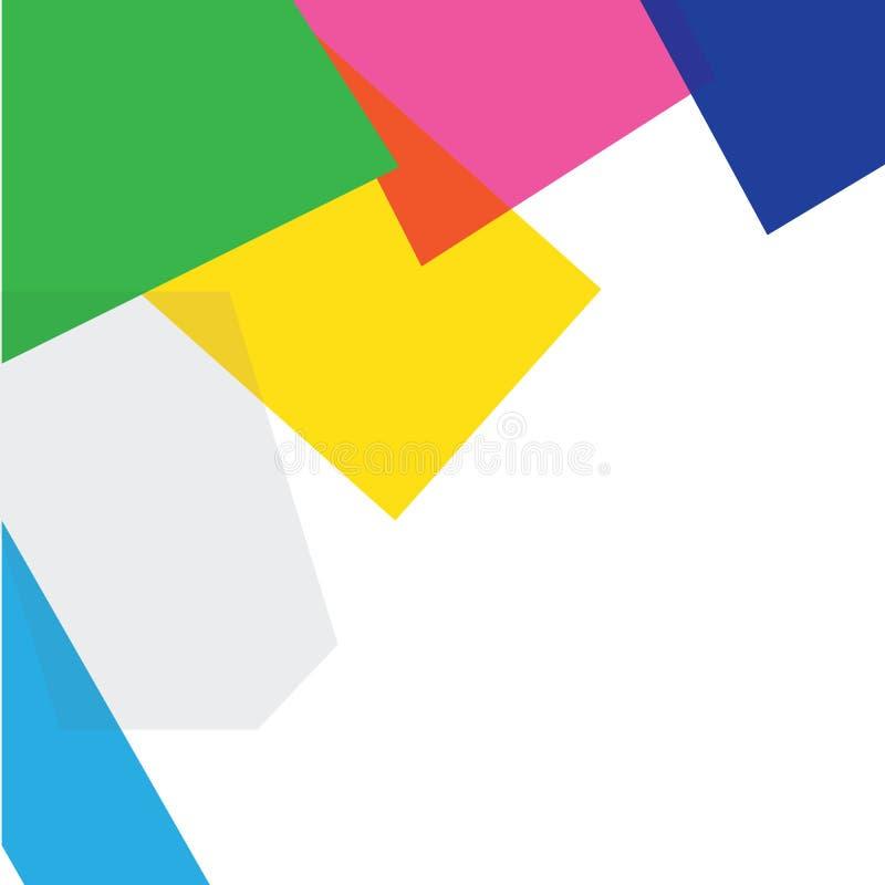 抽象五颜六色的背景模板 向量 免版税库存照片