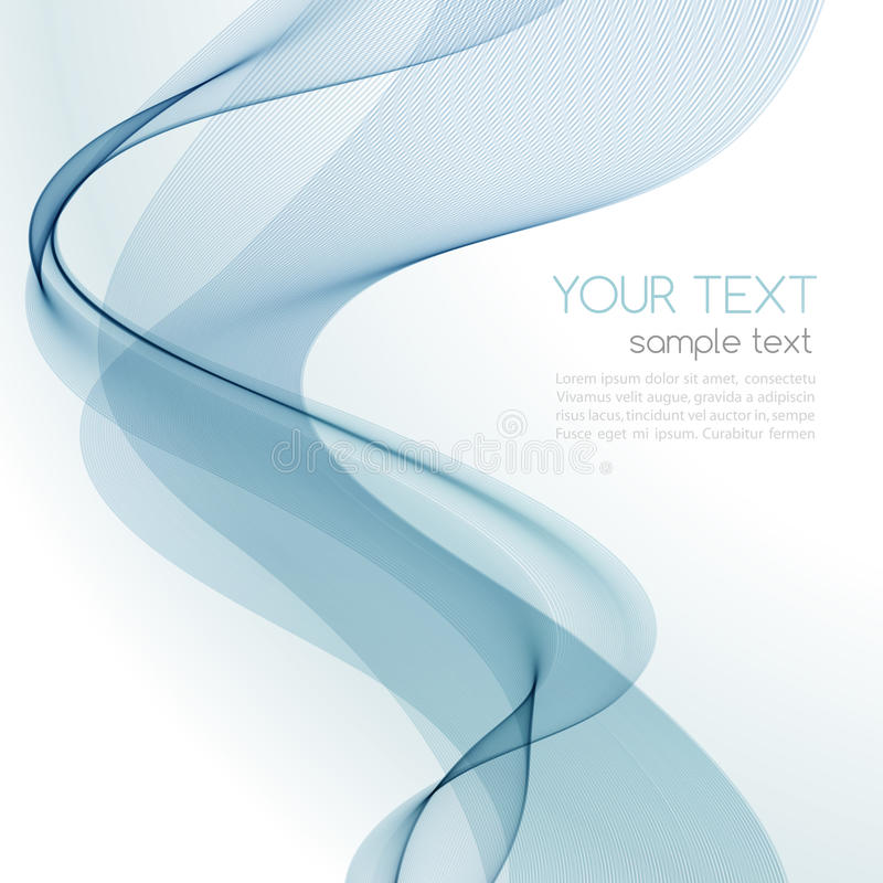 抽象五颜六色的背景蓝色烟波浪 皇族释放例证