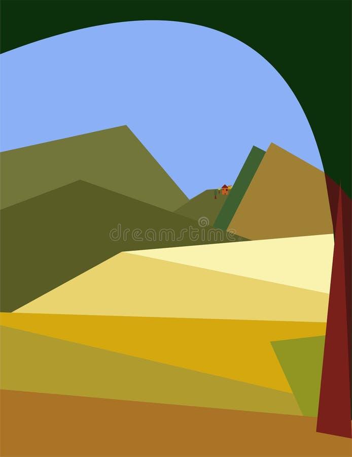 抽象五颜六色的背景,花梢风景 皇族释放例证