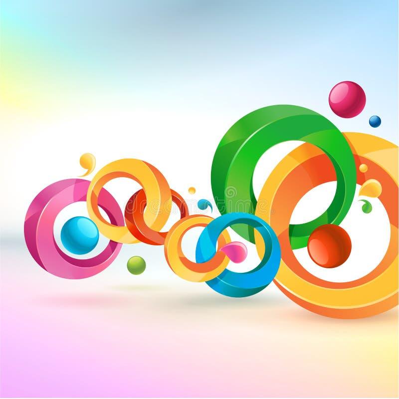 抽象五颜六色的背景 向量例证