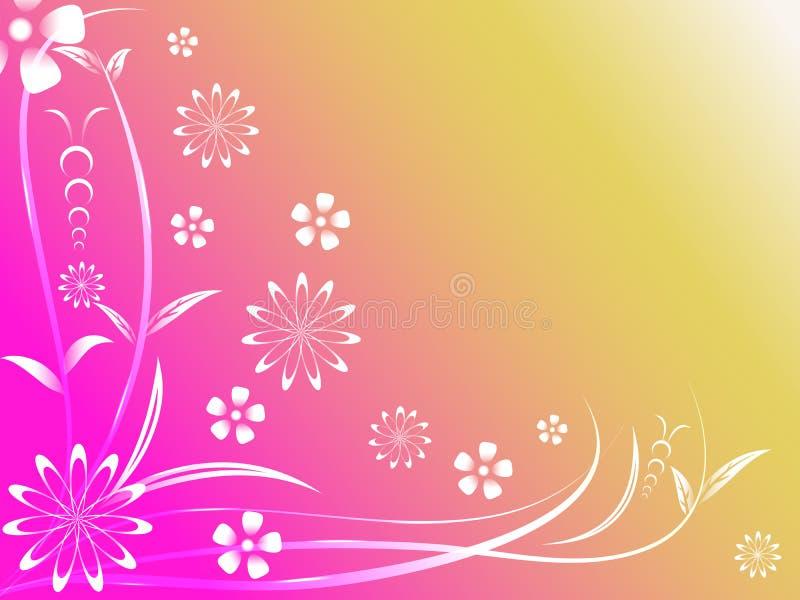 抽象五颜六色的花卉背景 免版税库存图片