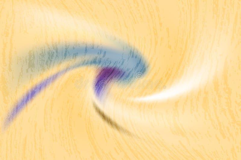 抽象五颜六色的转弯形状和样式在黄色背景 向量例证