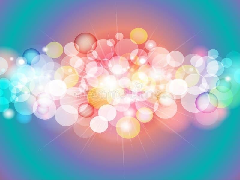 抽象五颜六色的迷离Bokeh背景设计 免版税库存图片