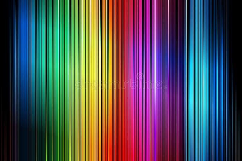 抽象五颜六色的镶边向量垂直 向量例证