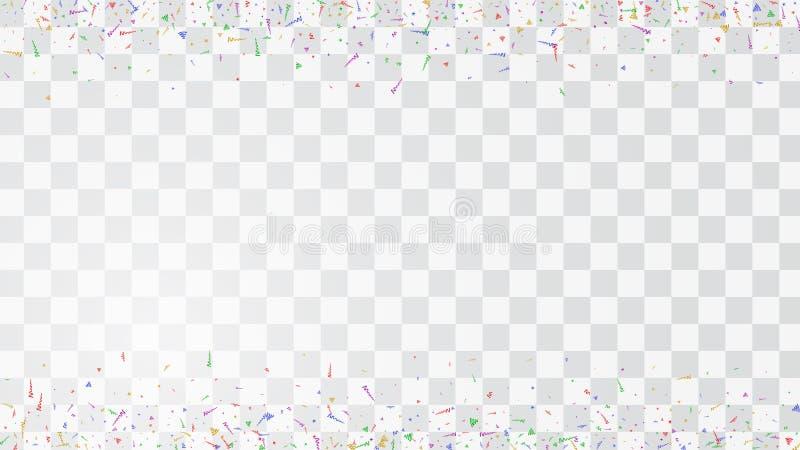 抽象五颜六色的飞行五彩纸屑背景 隔绝在wh 皇族释放例证